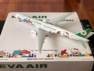 全新 Inflight200 Eva air 長榮航空 1:200 777-300ER 77W hello kitty 星空機 B-16722