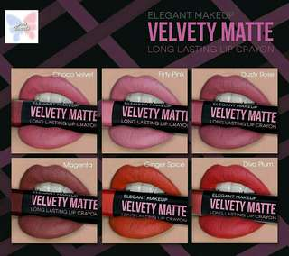 Velvety Matte Long Lasting Lip Crayon