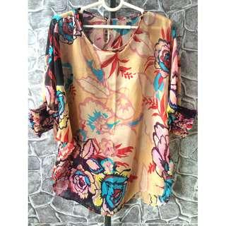 floral chiffon blouse