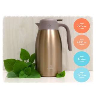 Opus Stainless Steel Big Volume Vacuum Insulated Thermal Cafes Flask 2L