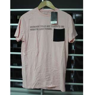 NWT Pull and Bear light pink t-shirt size S - NEVER worn