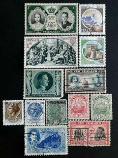 World vintage stamps#8