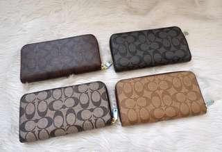 Coach long wallet with zipper