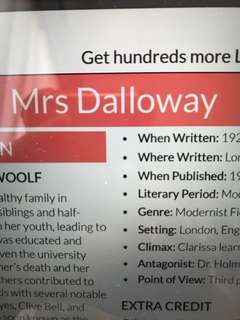 Mrs Dalloway LitCharts analysis