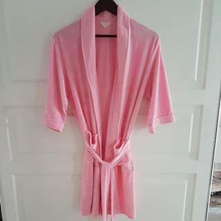 Pink bathrobe (jubah mandi)