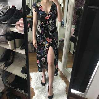 BNWT Cotton On Wrap Floral Maxi Dress