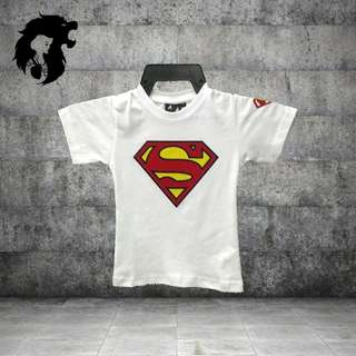 SUPERMAN WHITE KIDS TSHIRT TRSC-A018
