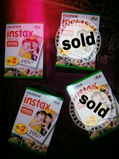 Fujifilm Instax Mini Film (Twin Pack) Expired