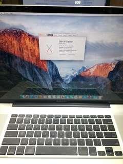 95%新 2011 MacBook Pro 17inch i7@2.2ghz 8gb ram 500gb Hdd 可自行改機升級