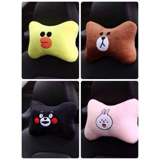 BTS x Line Friends Car Neck / Head Rest / Pillow