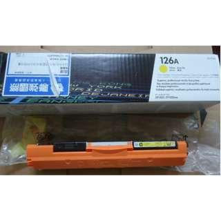 二手 空匣 HP 126A 黃色 CE312A / 黑色 CE310A 原廠碳粉匣 空匣 二個 彩盒