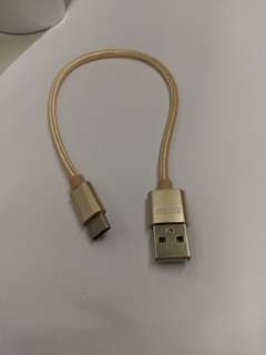 (2pcs) type c usb cable 0.25m