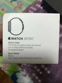 BNIB Apple watch Series 1 (42mm) black sports band