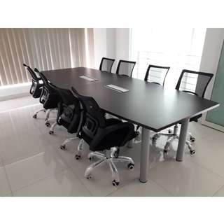 10 FEET BOAT SHAPE MEETING TABLE