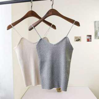 Grey Knitted Singlet