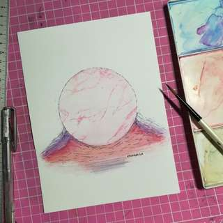 Handmade Watercolor Painting card