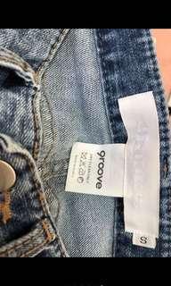 🚚 正韓字母牛仔褲