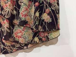 🚚 香港製古著vintage 絲質蛋糕裙