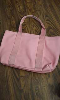 Authentic Lacoste Pink Tote Bag with Zipper