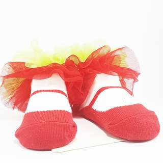 Carter's Baby Booties- Red Mary Janes with Tulle