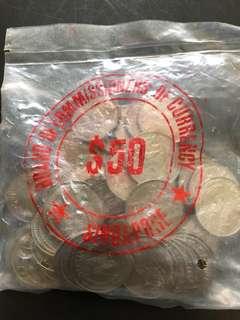 Singapore 1979 Lion Coins bccs original packaging.