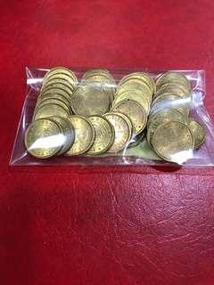 65年伍仙(早期)全新,單價18元,52個共售: