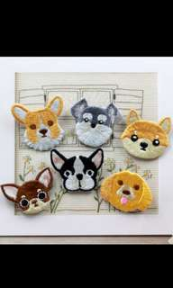 Dogs Iron on patches