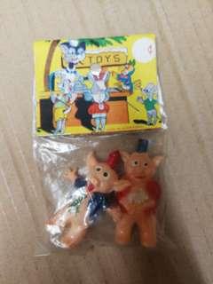 香港玩具60年代脆膠豬 5cm高