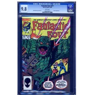 Marvel Comics Fantastic Four #271 CGC 9.8 John Byrne Copper Age Classic