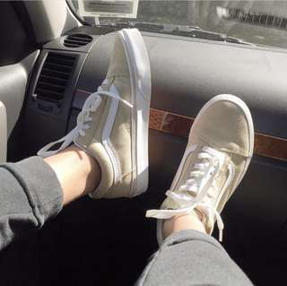 Khaki Old School Vans
