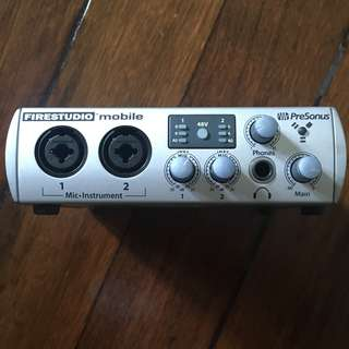 Presonus FireStudio Mobile 10 x 6 FireWire Recording Interface