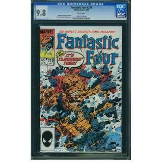 Marvel Comics Fantastic Four #274 CGC 9.8 John Byrne Copper Age Classic Cover