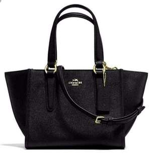 COACH CROSBY CARRYALL MINI  CROSSGRAIN LEATHER SYNTH (F 11925 )