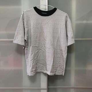 🚚 韓版 女生 短袖 黑色 橫條 T恤