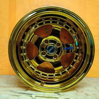 SPORT RIM 15inch S1 WORK MEISTER GOLD CHROME