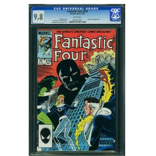 Marvel Comics Fantastic Four #278 CGC 9.8 White Pages John Byrne Copper Age Classic