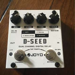 JOYO D-Seed Dual Channel Digital Delay Pedal