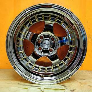 SPORT RIM 15inch S1 WORK MEISTER FULL CHROME 9JJ