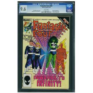 Marvel Comics Fantastic Four #276 CGC 9.6 John Byrne Copper Age Classic Secret Wars II Tie-In