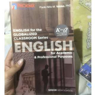 ENGLISH FOR ACADEMICS (SHS BOOKS)