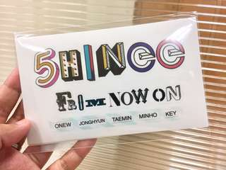 SHINee From Now On Sticker