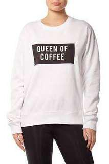 White Queen Of Coffee Jumper Size XS