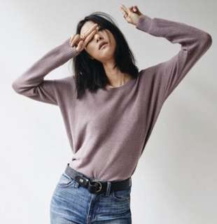 Madewell Warmlight Pullover Sweater in Lilac