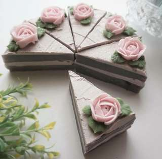 [Teacher Day Gift] Handmade Soap - Slice Cake 01
