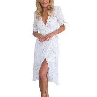 [PO] Polka Dot Wrap Dress