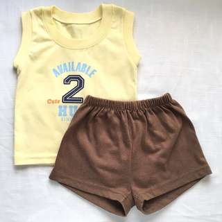 Bambini Baby Boys' Shirt and Shorts (6 mos)