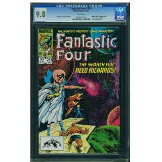 Marvel Comics Fantastic Four #261 CGC 9.8 Highest Graded John Byrne Copper Age Classic