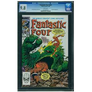 Marvel Comics Fantastic Four #264 CGC 9.8 White Pages John Byrne Copper Age Classic