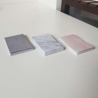 MARBLE/WOOD/CEMENT DESIGN POST ITS