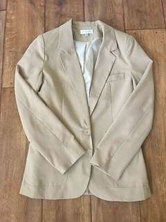 Tan/Cream Fitted Blazer Size XS